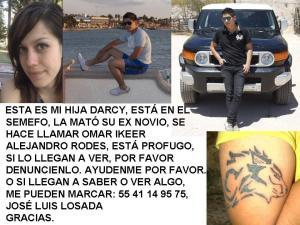 El padre de Darcy Losada  José Luis Losada Álvarez difunde esta imagen